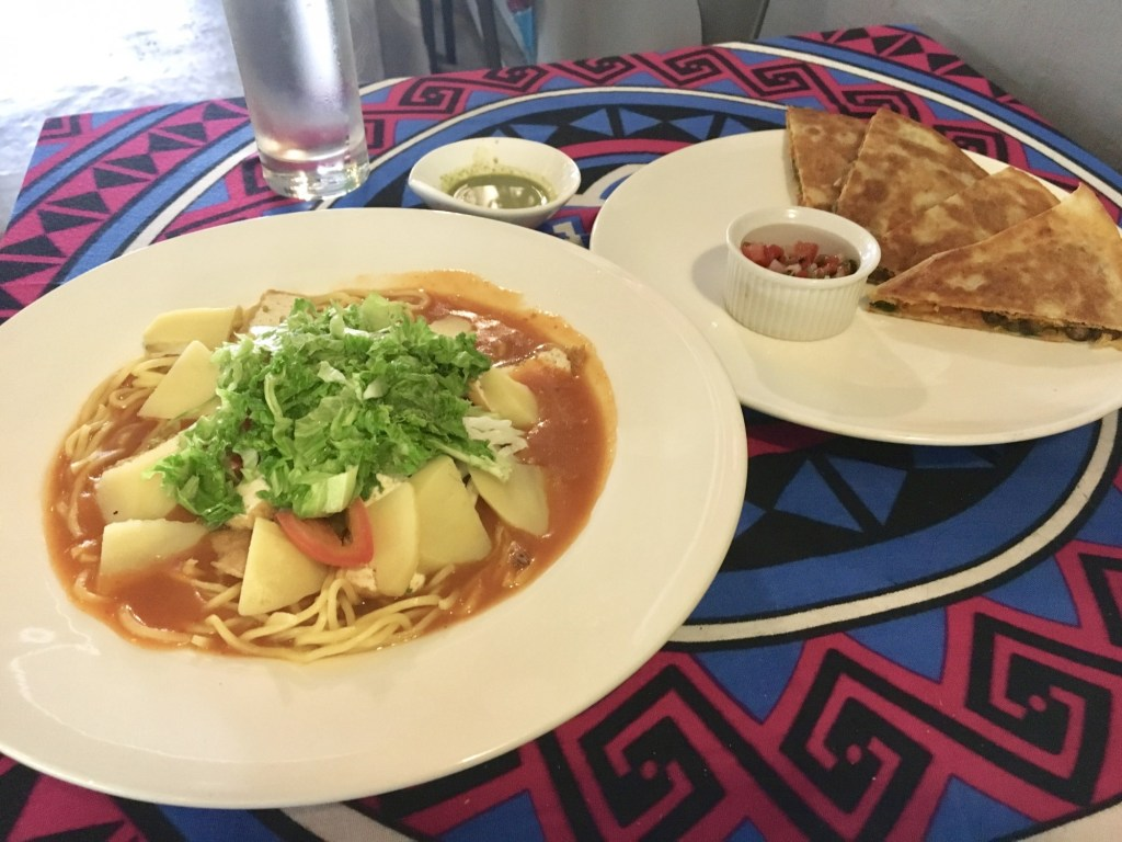 vegan penang viva victoria vegan noodles and vegan cheese quesadilla