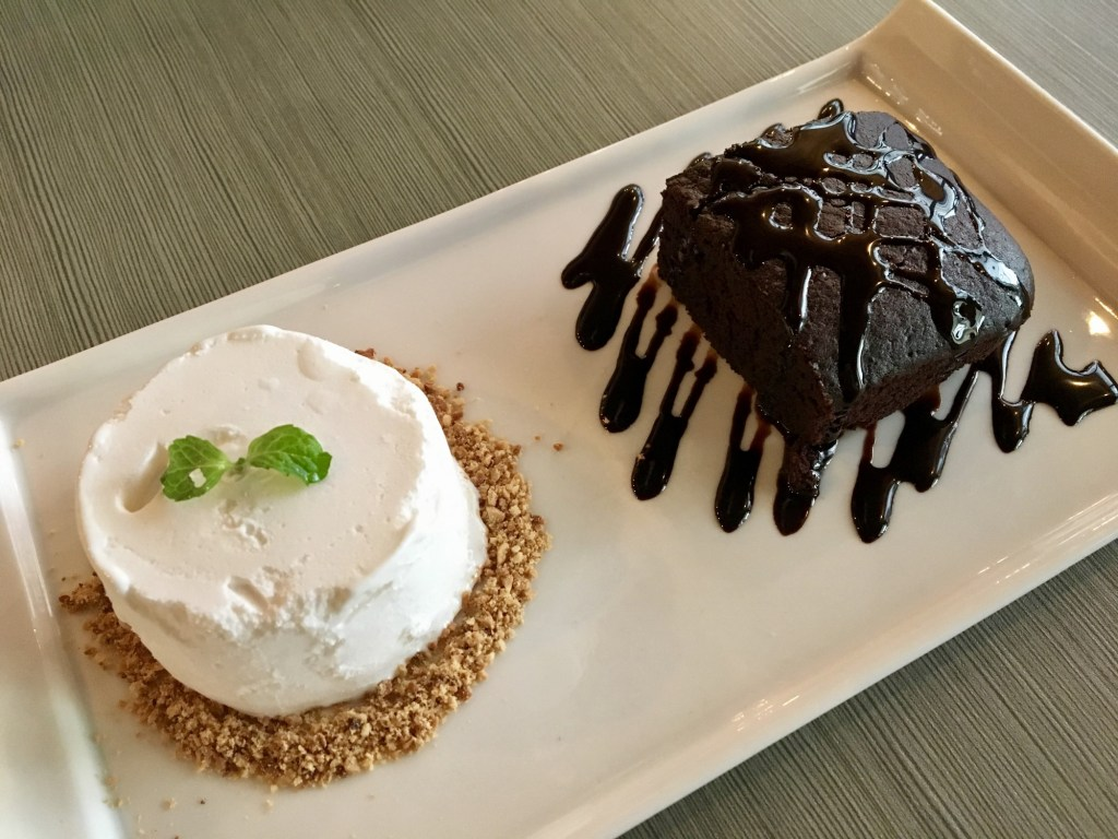 vegan penang brown poodle cafe vegan brownie and coconut ice cream