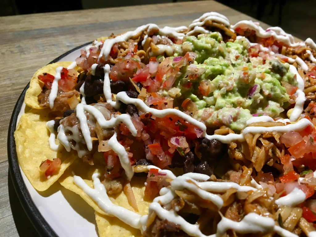 vegan nachos from hooch taipei vegan bar