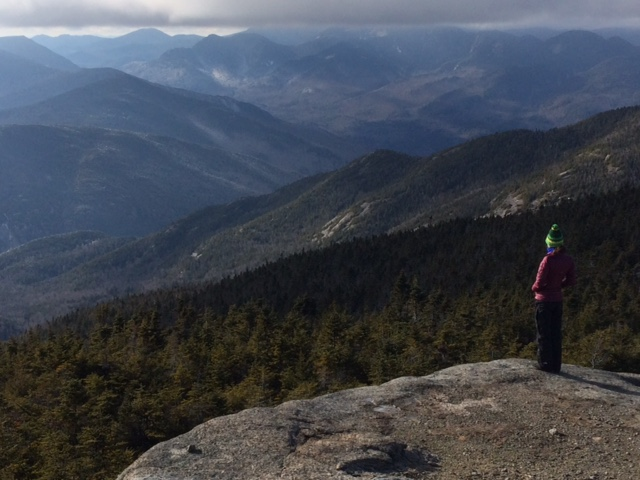Taking in the view from Rocky Peak Ridge in the Adirondack High Peaks