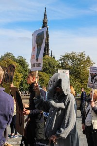 Marching for elephants, lions and rhinos