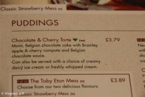 They even have vegan dessert!