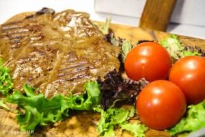 There's even vegan steak...