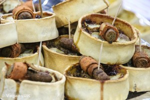 Cruelty free pigs in blankets - on pies!