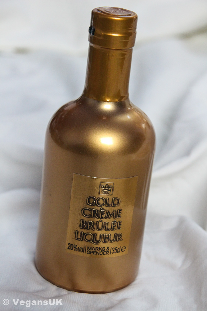 Gold Crème Brulee Liqueur by Marks and Spencer