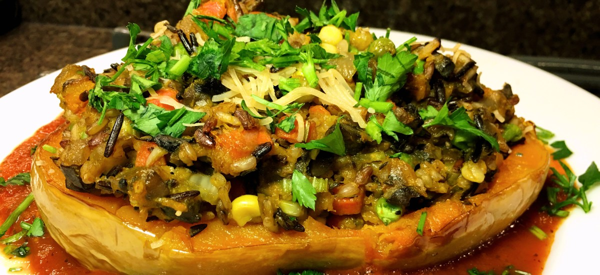 Colorfully Stuffed Butternut Squash