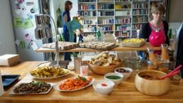 Vegan und spanisch - Buffetblick