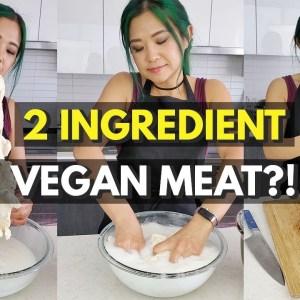 I Tried Making 2 Ingredient VEGAN MEAT... (VIRAL SEITAN RECIPE TEST)