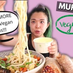 MUKBANG: Vegan Korean BBQ Burrito & Katsu Curry Udon / Munching Mondays Ep.75