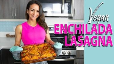 Cook with me VEGAN ENCHILADA LASAGNA | High-Protein