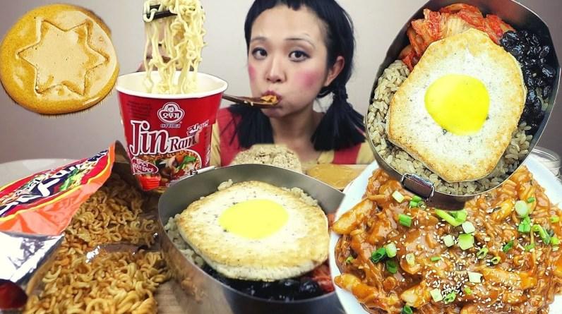 EATING FOOD FROM SQUID GAME (VEGAN) / Munching Mondays Ep.100