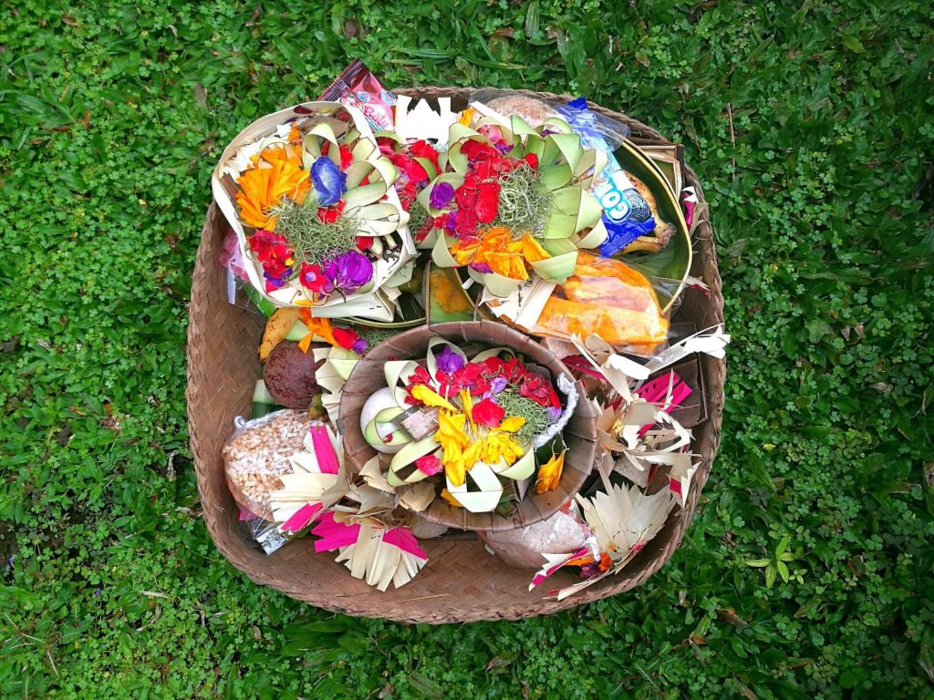 Offering at villa in Bali