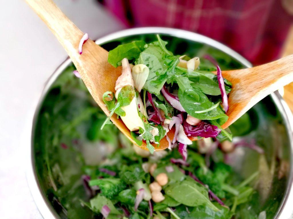 green salad for vegan intermittent fasting