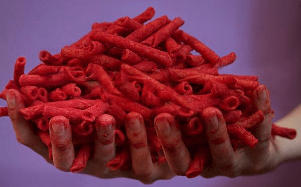 red vegan Takis
