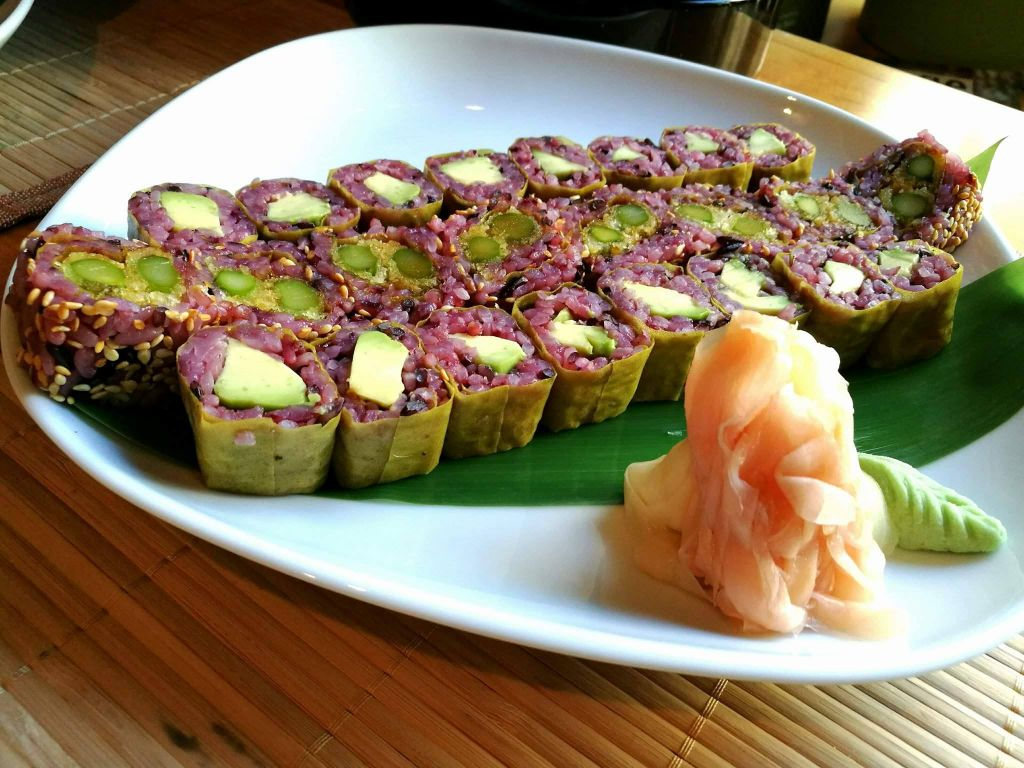 sushi in one of the most vegan friendly countries