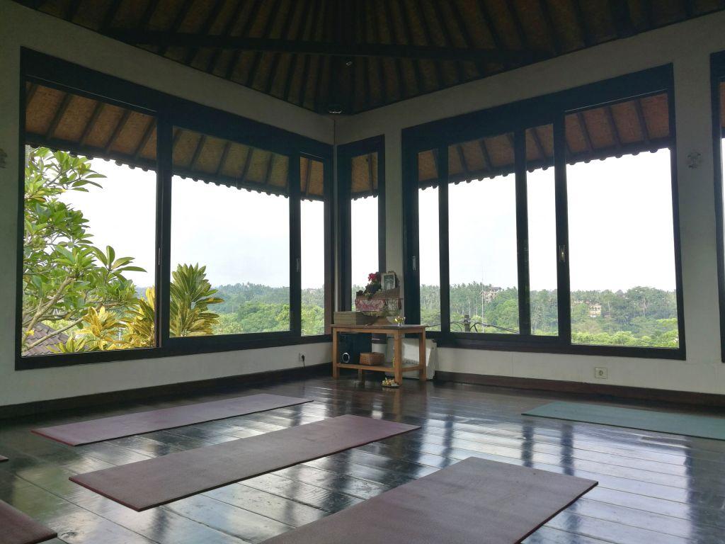 yoga studio in Ubud, Bali