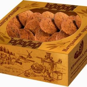 """Печенье кунжутное с пророщенным овсом """"Дивинка"""", 250 гр"""
