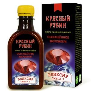 """Масло льняное Красный рубин """"Компас здоровья"""", 200 мл"""