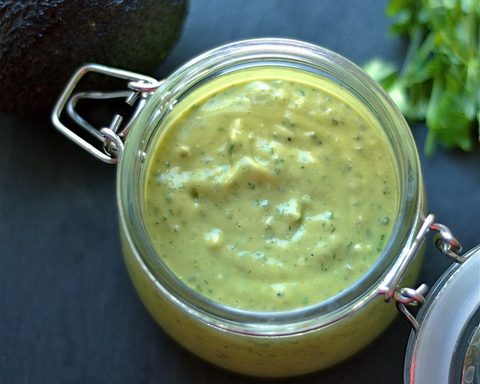 Cilantro-Lime-Avocado Cashew Sauce