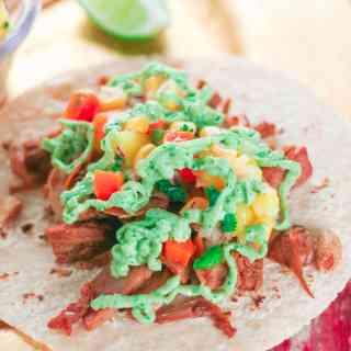 Spicy Jackfruit Tacos with Fresh Mango & Sweet Corn Salsa