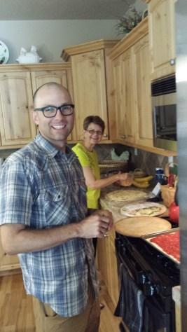 Homemade pizza chefs