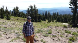 Matt hiking