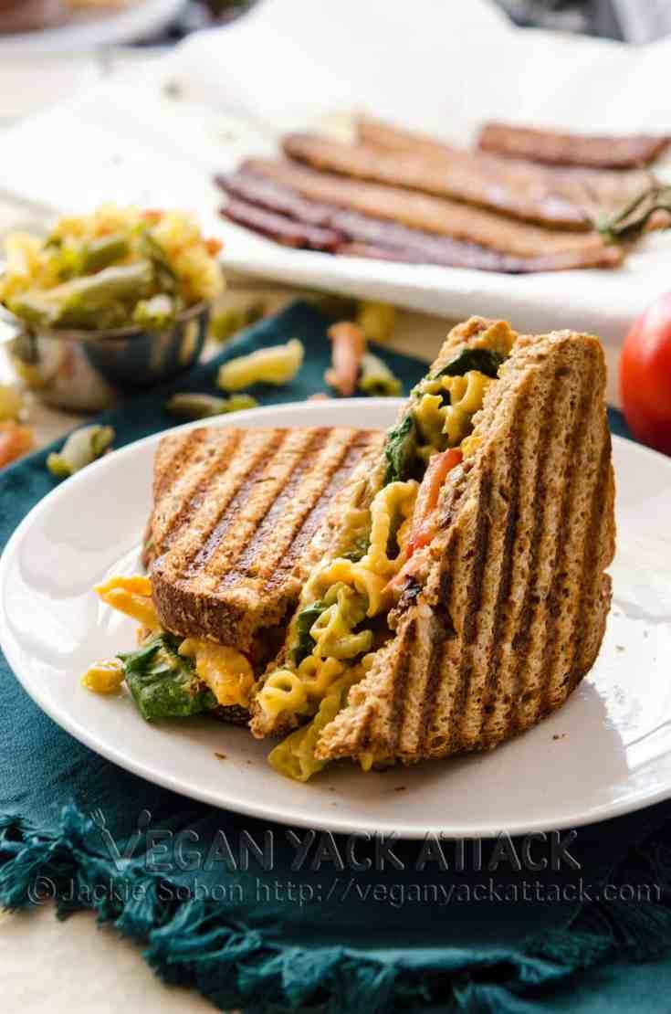 Vegan Grilled Mac 'n' Cheese BLT