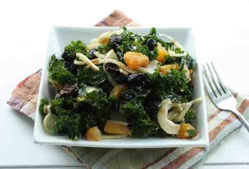 Kale Orange Fennel Olive Salad