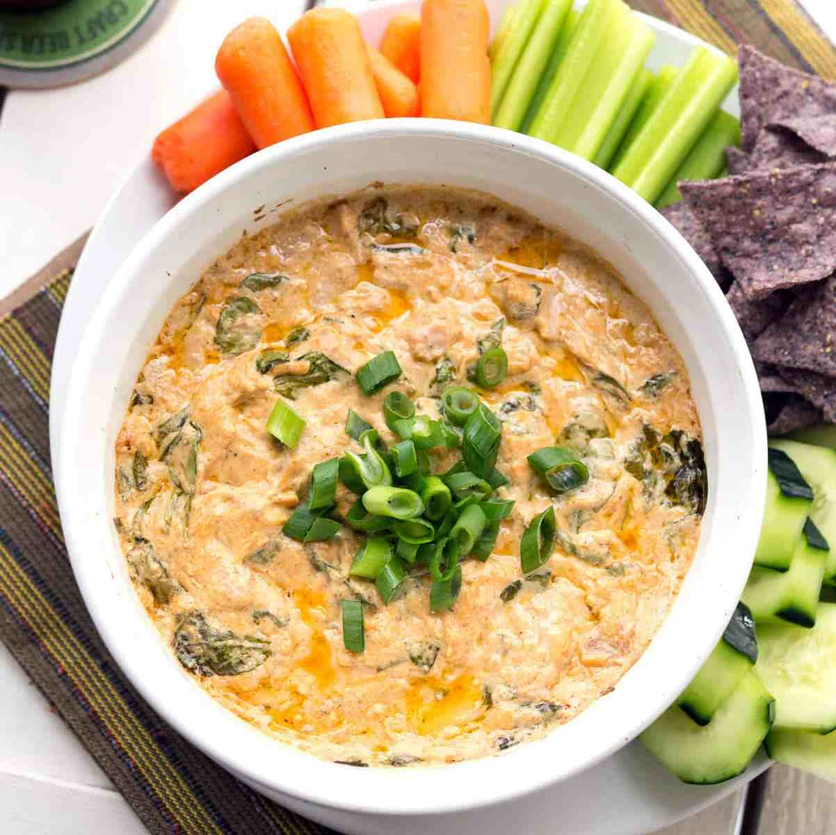 Buffalo Jackfruit Spinach Dip