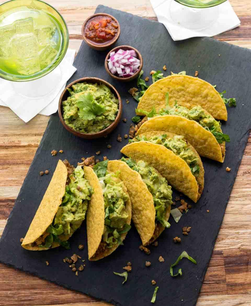 Cauliflower Lentil Tacos from Jason Wrobel's Eaternity Cookbook