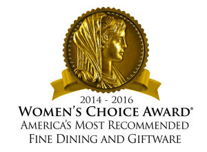Women's Choice Award - America's Most Recommended Fine Dining & Giftware