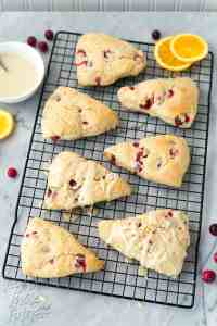 Glazed Cranberry Orange Scones