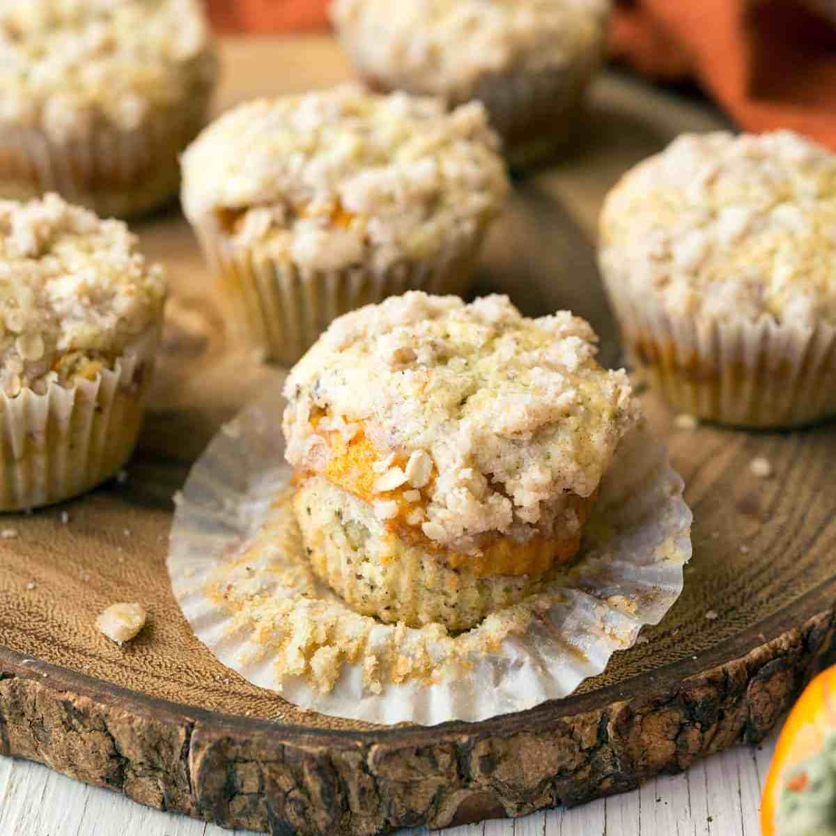 Mini Persimmon Coffee Cakes