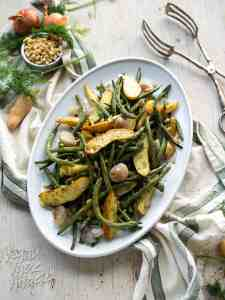 Dill-Roasted Green Beans and Potatoes