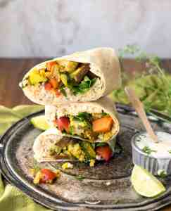 Curry Cauliflower Burrito + IG Giveaway