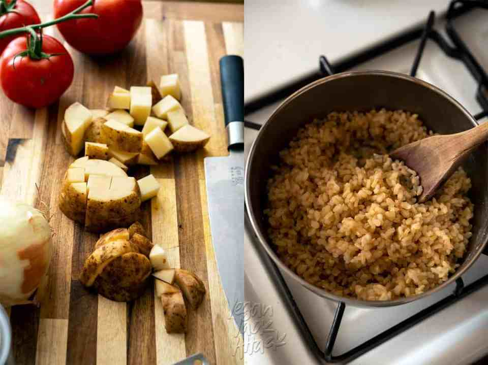Potatoes and Brown Rice
