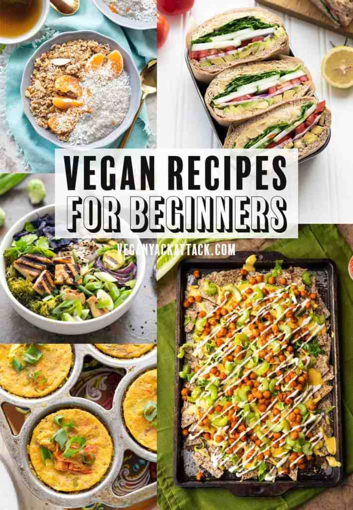 Here's a helpful list of vegan recipes for beginners, so that you can dip your toes in for a test. I made sure they're convenient and delicious, for you! #vegan #easyvegan #veganyackattack