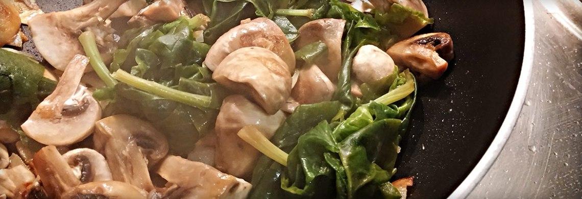 Gemüsepfanne für Kürbisfritten