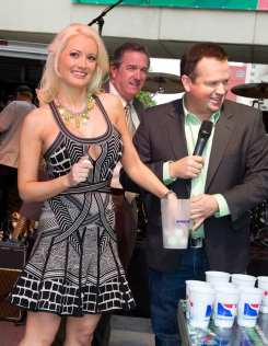 Holly Madison Playing Beer Pong