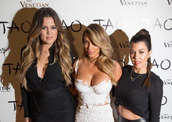 Khloe and Kourtney Kardashian at Kim Kardashian's Birthday at TAO Las Vegas