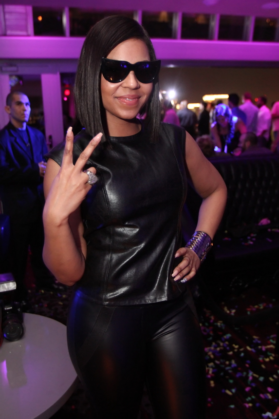 Ashanti arrives to Ghostbar inside Palms Casino Resort. - Photo Credit: Joe Fury on behalf of 9Group
