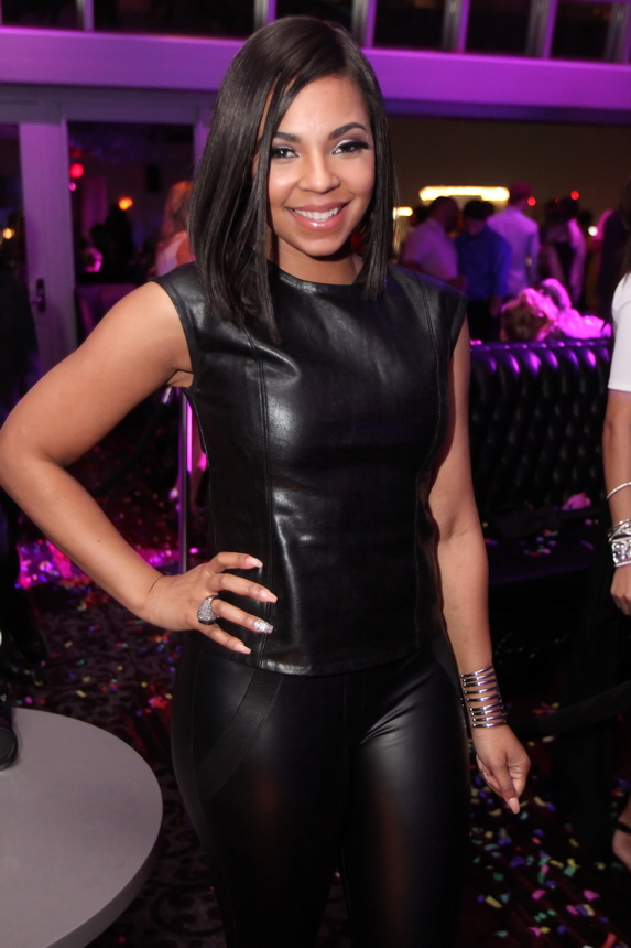 Ashanti all smiles while celebrating big Soul Train award win inside Ghostbar at Palms Casino Resort. - Photo Credit: Joe Fury on behalf of 9Group