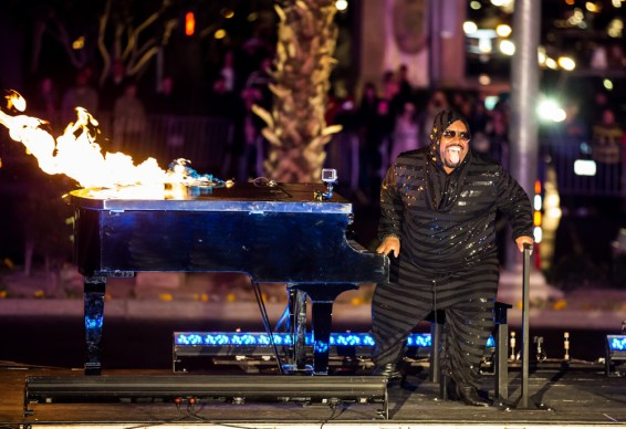 CeeLo Green official arrival at Planet Hollywood in Las Vegas, NV