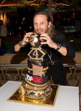 David Guetta performs at XS Nightclub 4 year Anniversary in Las Vegas, NV
