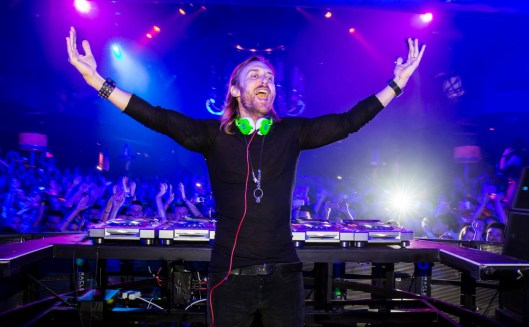 David Guetta performs at XS Nightclub 4 year Anniversary in Las Vegas, NV
