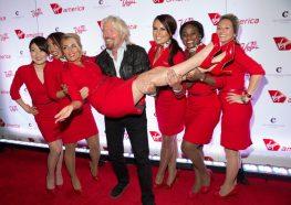 VIRGIN AMERICA & SIR RICHARD BRANSON CELEBRATE NEW FLIGHTS at The Cosmopolitan in Las Vegas, NV
