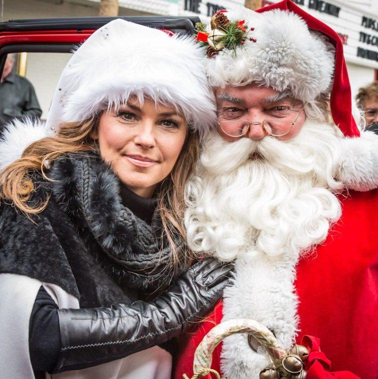 Shania Twain at the Great Santa Run
