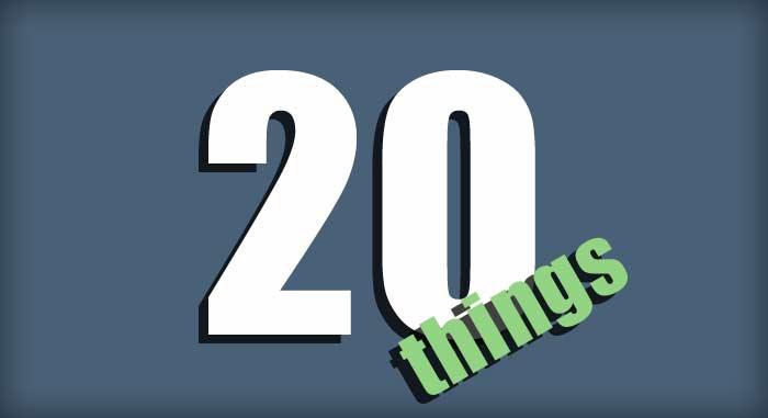 20 Things Las Vegas Edition