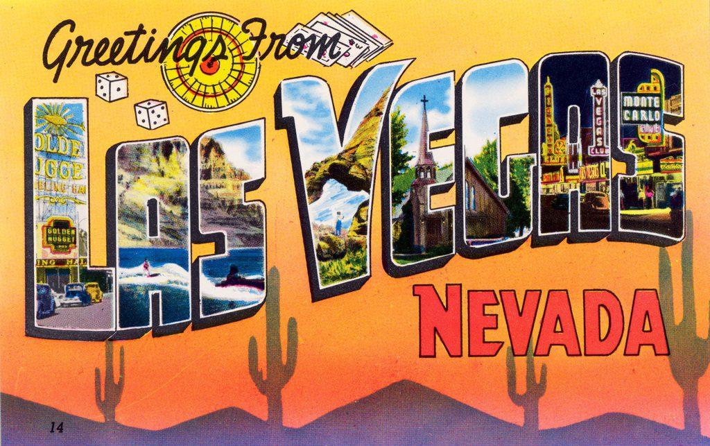 Las Vegas Weather - Greeting from Las Vegas Postcard