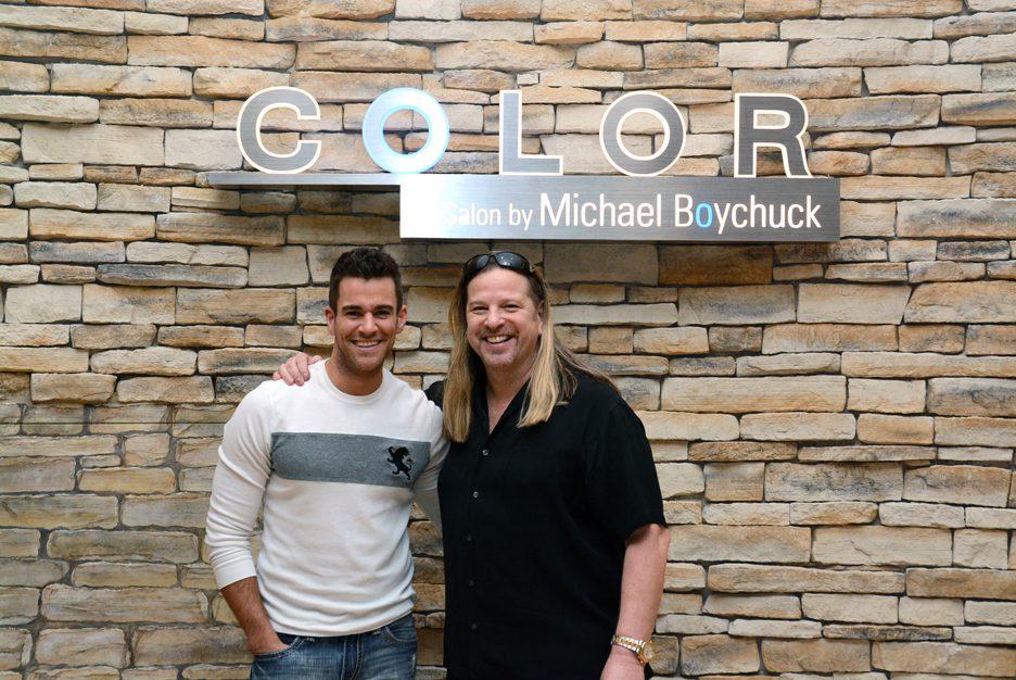 Jeff Civillico and Michael Boychuck at COLOR Salon